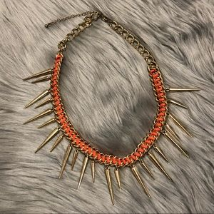 Jewelry - Orange/Gold Bohemian style spikes necklace